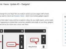 Blogger añade gadgets a las vistas dinámicas