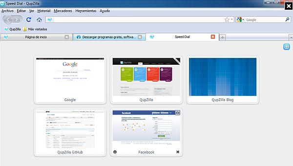 Qupzilla: un navegador rápido y altamente configurable