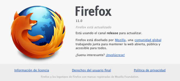 Disponible Firefox 11