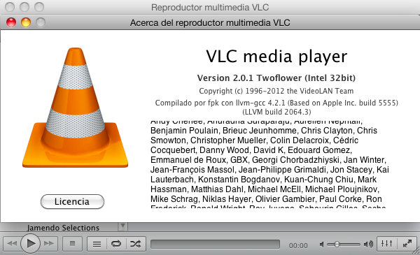 VLC 2.0.1