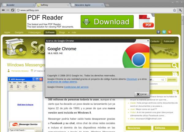 Google Chrome 18 con mejoras gráficas