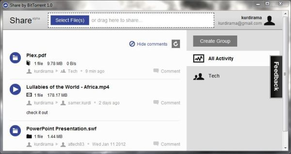 Share: el BitTorrent de los archivos personales