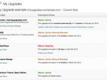 WordPress.com habilita una sección para administrar las mejoras