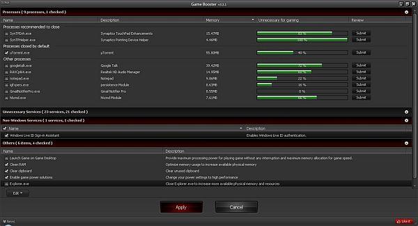 Game Booster 3.4 para los fanáticos de los juegos