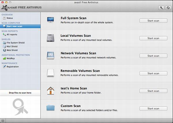 Avast! para Mac sale de fase beta