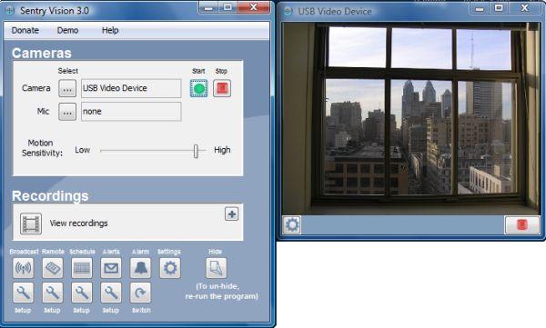 Sentry Vision Security 3.0: sistema de vigilancia en vídeo y alarma