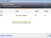 Disponible KeePass 2.19