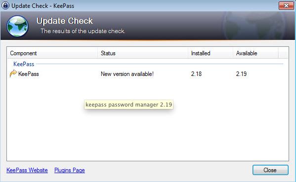 KeePass 2.19
