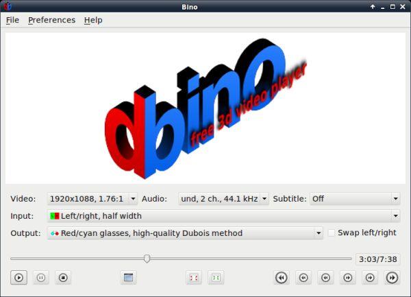 Bino se presenta como pequeño pero completo reproductor de vídeo 3D