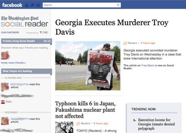 Facebook: los social readers caen estrepitosamente