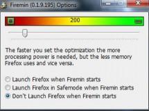 Con Firemin baja el uso de memoria en Firefox