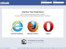 Facebook elimina a Chrome de sus navegadores recomendados y pone a Opera