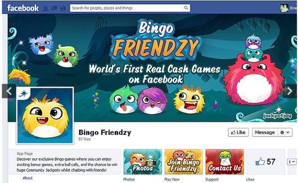 Bingo Friendzy es el primer juego de apuestas con dinero real en Facebook