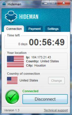Hideman: bloquea tu dirección IP para acceder a servicios protegidos