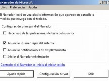 La característica Narrador de Windows 7