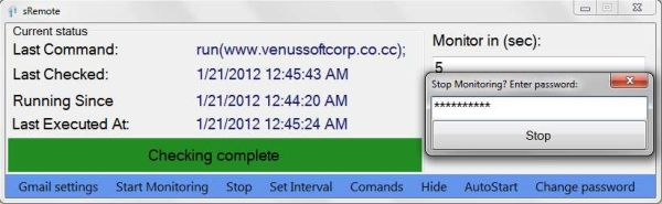 sRemote: controla remotamente el ordenador a través de una cuenta de Gmail
