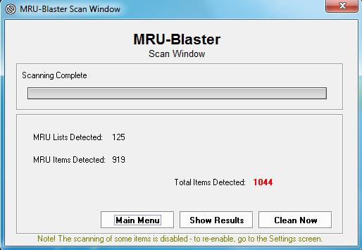MRU-Blaster, elimina todas las entradas en archivos utilizados recientemente