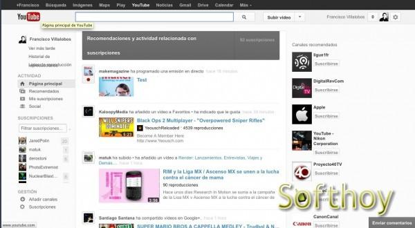 Prueba el nuevo diseño experimental de YouTube