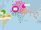 """Facebook presenta el mapa mundial de la """"amistad"""""""