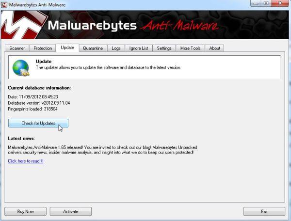 Malwarebytes presenta mejoras en la versión 1.65
