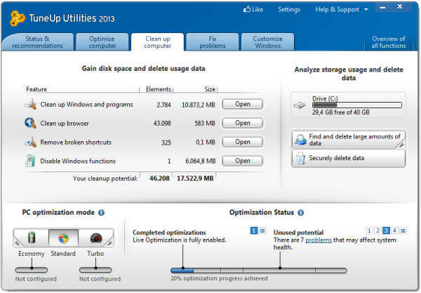 Ya está disponible TuneUp Utilities 2013