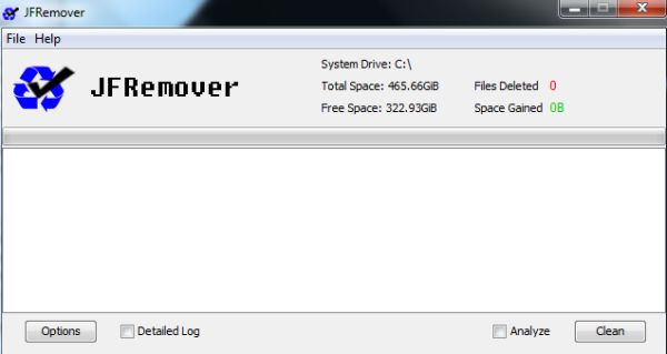 JFRemover: un poderoso limpiador de discos que requiere un uso cuidadoso