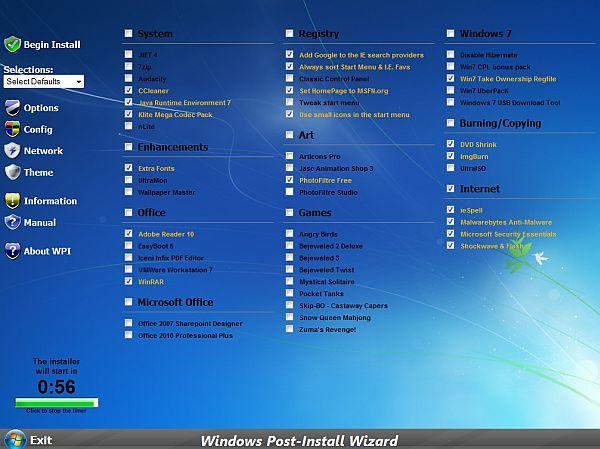 Windows Post-Install Wizard: un instalador de Windows con todos tus programas