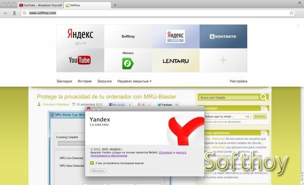 Yandex, otro navegador basado en Chromium