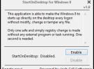 StartOnDesktop, o cómo iniciar sesión directamente en el escritorio de Windows 8
