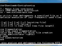 Contig es un desfragmentador para archivos o carpetas