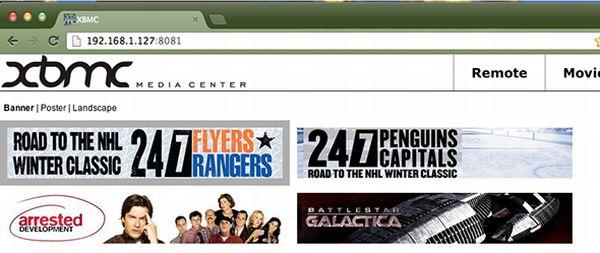 Controla el XBMC Media Center desde un navegador ubicado en otro ordenador
