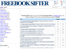 Freebooksifter rastrea Amazon para encontrar ebooks gratuitos para Kindle