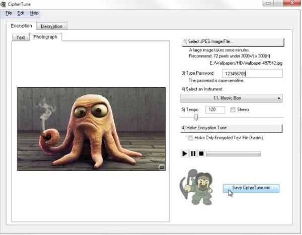 CipherTune encripta mensajes en un midi o una imagen
