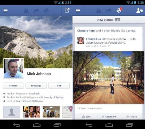 Facebook para Android ahora con soporte para mensajes de voz