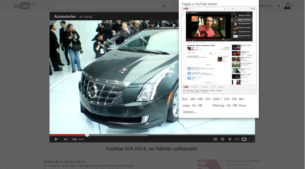 YouTube Options for Google Chrome