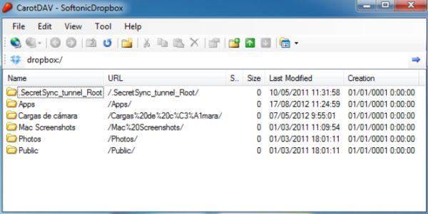 CarotDav: un cliente para todos los servicios de almacenamiento en línea