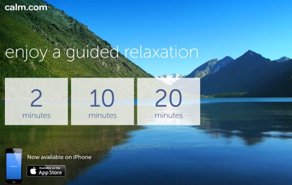 Programando sesiones relajantes con Calm