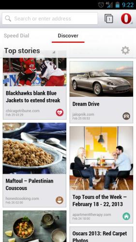 Ya está disponible la versión beta de Opera para Android
