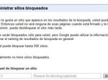 Google también discontinúa el bloqueo de sitios en la lista de resultados de búsqueda