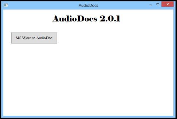 Convertir ficheros de Word en audio con AudioDocs
