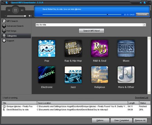 Descarga música para tu PC con Speed MP3 Downloader