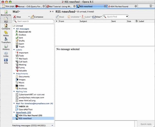 Gestiona tus cuentas de correo electrónico con Opera Mail