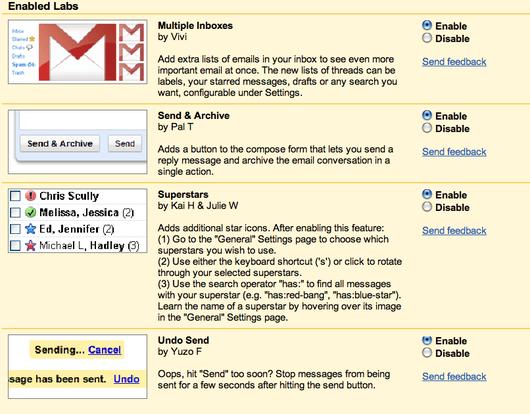 Mejora el rendimiento de Gmail mediante herramientas extra del servicio