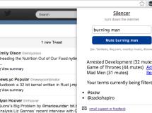 Silencer, extensión de Chrome para filtrar contenido en Twitter y Facebook