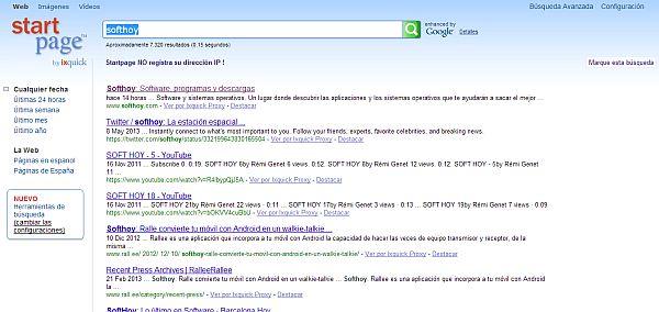StartPage y DuckDuckGo ganan posiciones como motores de búsqueda