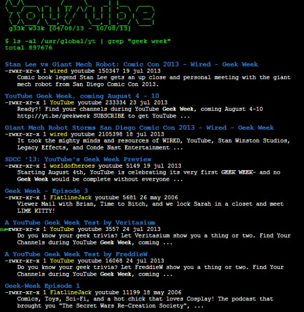 YouTube retrocede en el tiempo como homenaje a la Geek Week