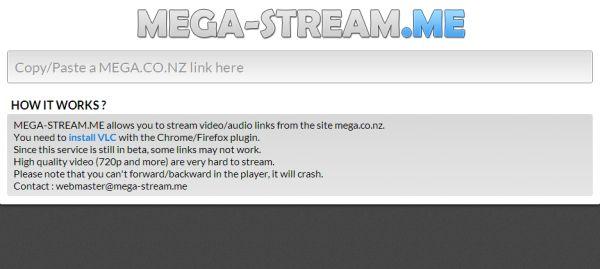 Mega-Stream.me servicio de streamig de vídeos a través de Mega-Search.me