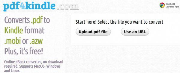 PDF4Kindle: convierte archivos PDF al formato MOBI del Kindle
