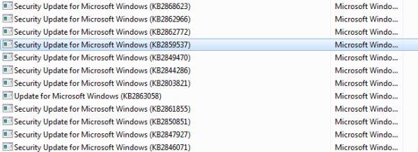 Graves problemas con una de las actualizaciones en Windows 7