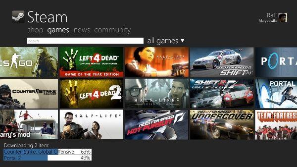 Windows 8 ya supera al Windows 7 de 32 bits en Steam